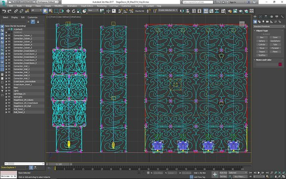 Stage Decor 09 Modular Wall Column in Photoshop Shapes - product preview 12