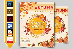 Autumn Fall Flyer Template Vol-01