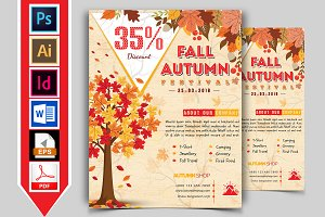 Autumn Fall Flyer Template Vol-03