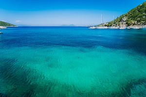 Azure clear water. Picturesque