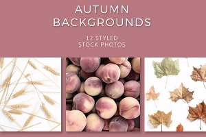 Autumn Backgrounds (12 Images)