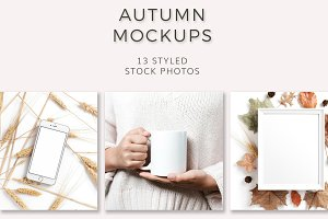 Autumn Mockups (13 Images)