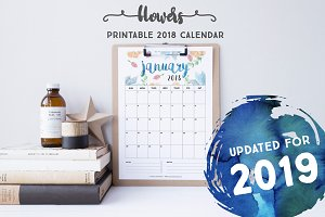 2019 Calendar: Flowers *Updated*