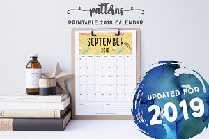 2019 Calendar: Patterns*Updated*