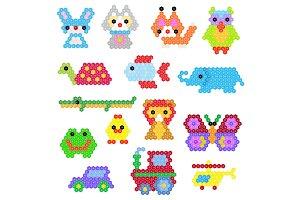 Mosaic animal vector animalistic