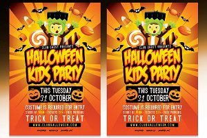 Halloween Kids Party - PSD Template