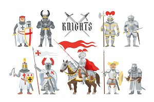 Knight vector medieval knighthood