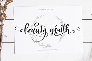 Beauty Youth. Lovely Script