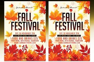 Fall Festival Flyer - PSD Template