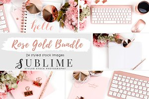 Rose Gold Stock Photo Bundle