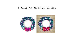 2 Beautiful Christmas Wreaths