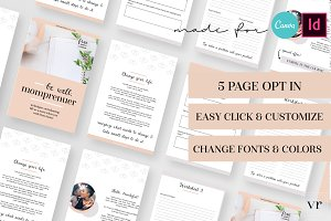 Momprenuer Opt In Indesign Canva