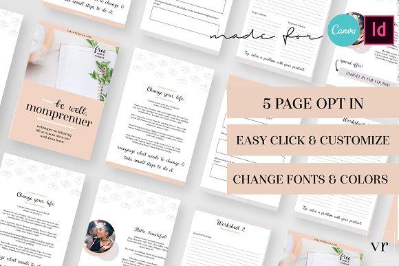 Momprenuer opt in indesign canva magazine templates creative market momprenuer opt in indesign canva magazines maxwellsz