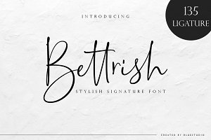 Bettrish // Stylish Signature Font