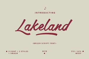 Lakeland brush font