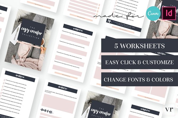 Cozy Creator Worksheet Canva Adobe