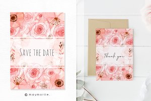 Floral vector BG, invitation 01