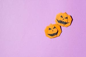 Halloween concept,paper origami