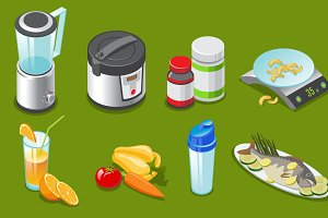Isometric Healthy Lifestyle Elements