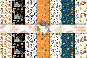 Happy Halloween Digital Paper