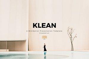 KLEAN - A Minimalist Presentation