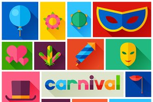 Backgrounds with carnival icons.