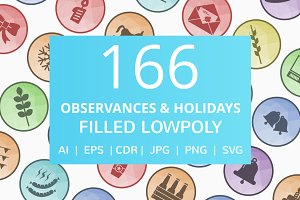 166 Observances & Holiday Icons