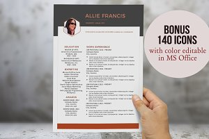 3 in 1 creative Word resume