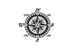 Compass vintage monochrome