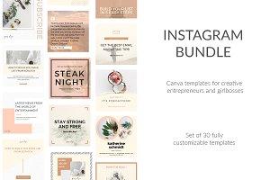 30 Instagram Canva DIY Templates