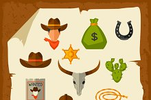Cowboy objects and elements.