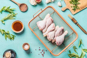 Chicken drumsticks with marinate