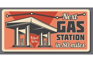 Gas station with fuel road