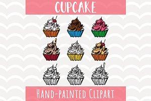 Cupcakes Clipart Set