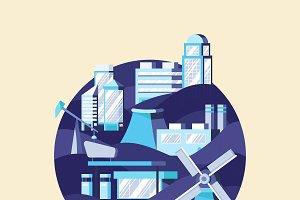 Alternative energy vector in blue