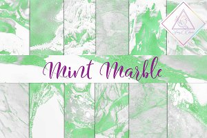 Mint Marble Digital Paper