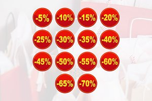 Sale Discount Circle Price Tag Icon