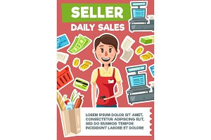 Seller profession, shop assistant