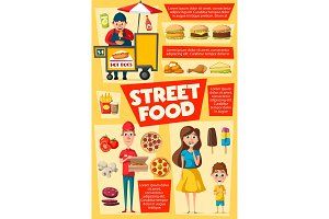 Consumers and sellers, street food