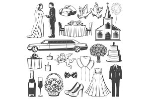 Wedding accessories and engagement