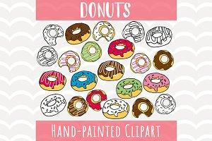 Donuts Sprinkle Clip Art Set