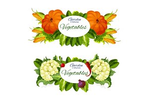 Natural vegetables and grocery