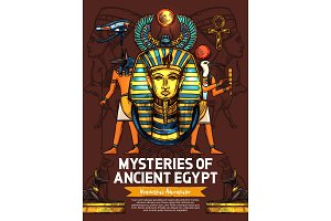 Egypt religious sculptures, gods