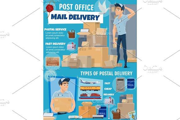 Mail Service Postman Parcels