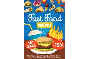 Junkfood fast food menu icons