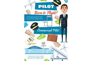 Career of pilot, hiring aviator