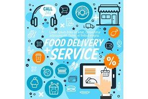 Delivery service, vector