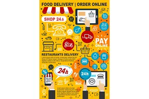 Online delivery service of food