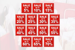 Sale Discount Square Price Tag Icon