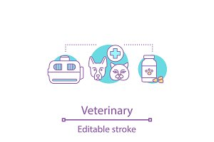 Veterinary concept icon